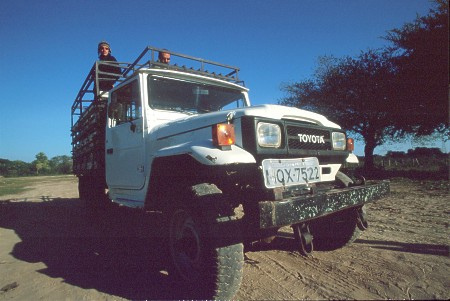 Toyota Bandeirante jeep in the Pantanal